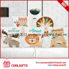 Customized Carton Animal Print Cotton Linen Pillow /Sofa Cushion