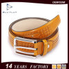 Custom Logo 37mm Steel Buckle Braided Cowhide Leather Belts