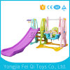 Indoor Playground Plastic Slide and Swing, Basketball Stand Kids Toy C Series