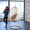Popular Cheap Price Rattan Swing Chair Rattan Hanging Egg Chair (D011)