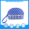 New Design Dots and Stripe Printed Microfiber Cosmetic Bag with Handle