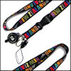 Polyester Colorful Custom Logo Dye Sublimation Lanyards for Promotional Gift