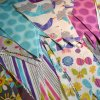 Custom Design Eco-Friendly Colorful Printed Fabric String Flags