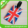 Flag Rubber Luggage Tag with Black String (SLF-LT070)