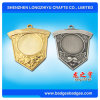 Souvenir Metal Medal Shield Gold/Silver Blank Medal