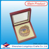 Brass Medals Color Enamel with Wooden Case