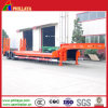 4 Axle Lowbed Semi Truck Trailer 80ton with Spring Ramp