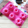 6 Hollow Flowers 29.5*17.3*3.5cm Silicone Molds for Cakes
