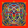 Custom Digital Printing 100% Silk Scarves (F13-0016)