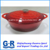 Red Enamel Cast Iron Non-Stick Cooking Pot