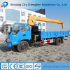 China Construction Truck 6.3ton Hydraulic Tire Truck Mounted Crane