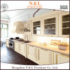 N&L Cherry/Oak Solid Wood Glass Door Italian Furniture Design Kitchen Cabinet