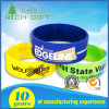 Manufacturing Hot Sale Customized Logo Rubber Wide Wristbands for Girls