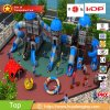 Outdoor Plastic Playset for Kids Outside Playground Structure in Blue Color Made of China