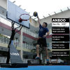 Custom Portable Basketball Goal with Movable HDPE Base Adjustable Backboard Spring Rim for Teenager