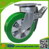 Total Brake Caster Elastic Polyurethane Wheel for Trolley