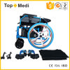 Topmedi Medical Equipment Aluminum Foldable Power Electric Wheelchair China Factory