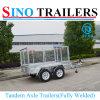 Australian Tandem Axle Mesh Cage Car Trailer