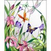 Decorative Material Flower Mural Stained Glass Mosaic Mural for Sale