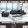 Black Modern Leather Sofa with Single Chair (Lz888)