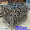 Galvanized Steel Wire Mesh Container for Warehouse Storage