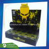 Customized Black and Yellow Acrylic Counter Display with 5 Tubes, Professional L Stand Acrylic Display Rack Manufacturer China