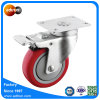Medium Duty Total Lock Braked 4 Inch PU Swivel Casters