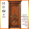Popular Engraving Solid Wood Door Made in China