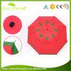 High Quality 3 Fold 8 Ribs Fruits Print Umbrella