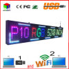 P10 Full Color Outdoor 52′′x8′′ Inch 1/4 Scan Support USB Computer WiFi Edit for Advertising Media LED Display