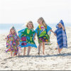 100% Cotton Reactive Printed Velour Bath Poncho Beach Poncho
