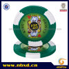 14G 2-Tone King′s Casino Clay Poker Chip with Custom Stickers