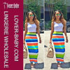 Two Piece Outfits Striped Dress L28073