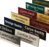 Custom Chrome Engraved Metal Names Logo Badge Tags