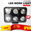 60W LED Work Light (4X6inch, Waterproof IP69k)