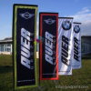 High Quality Polyester Rectangle Display Beach Flag Banner for Advertising
