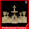 Yellow Marble Pedestal Water Fountain Garden Fountain