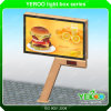 Cheapest Advertising Equipment for Outdoor Useage Billboard with LED Clock