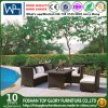 Outdoor Leisure Furniture Half Round Rattan Sofa with Table (TG-JW61)