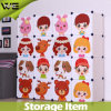 Folding Large Kids Plastic Storage Box with Cartoon Doors
