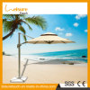 Beige Color Double Layers Beech Parasol Professional Custom Advertising Outdoor Patio Sun Umbrella