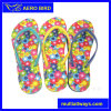 Beach Flip Flop with Colorful Flower Design