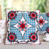 Jacquard Flower Fleece Cushions Cover