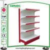 Supermarket Metal Gondola Shelving with Wood Shelf