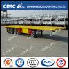 High Quality Cimc Huajun 3axle Flatbed Semi Trailer
