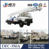Truck Mounted Water Well Drilling Rig Machine on Truck Dfc-350A