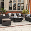 2015 Deluxe Wicker Outdoor Furniture - Three Seater Sofas, Rattan Garden Furniture