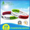 Free Sample Screen Printing Customized Logo Swirl Silicone Bracelets
