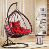 Luxury Outdoor Furniture Double Seat Swing Rattan Egg Chair Living Double Swing (D152A)
