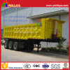 Square Cargo Box 3 Axles End Dumper Semi Trailer